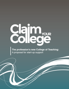 ClaimYourCollege proposal